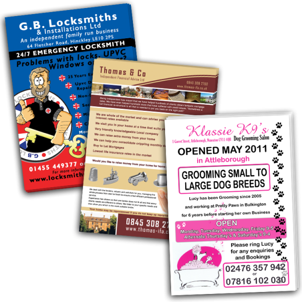 Large Quantity Flyers and Leaflets
